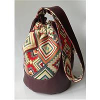 Wine Tapestry Rondelle Bag Kit: Pattern & Fabric (2.5m)