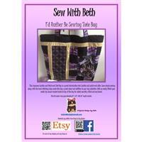 Sew with Beth Sashiko Dragonfly Tote Pattern