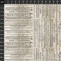 Tim Holtz Monochrome Collection Typography Fabric 0.5m
