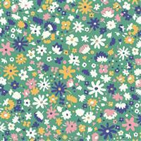 Liberty Carnaby Collection Bloomsbury Blossom Green Fabric 0.5m