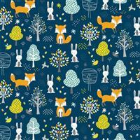 Woodland Friends Forest Fabric 0.5m