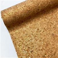 Cork Vinyl Gold Sparkle Fabric 0.5m