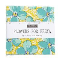 """Moda Flowers For Freya 10"""" Charm Pack 42 Pieces"""