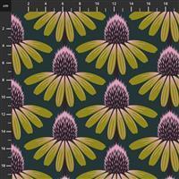Anna Maria Horner Love Always Yellow Flower Head Fabric 0.5m