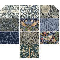 William Morris Twilight FQ Pack of 10 Pieces