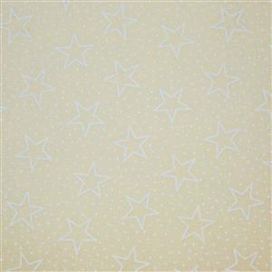 All Stars Tone On Tone Star Outlines On Gold Extra Wide Backing Fabric 0.5m (274cm Width)