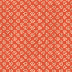 Laura Ashley Oxford Collection Textured Spot in Light Red Fabric 0.5m