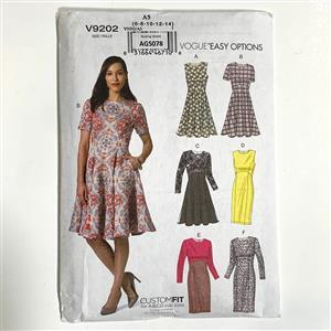 Flared Misses' Dress Sewing Pattern (6-14)