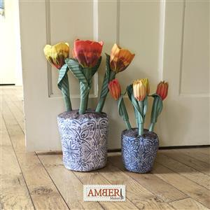 Amber Makes Blue China Flowerpots Kit: Instructions & Panel (140 x 99cm)