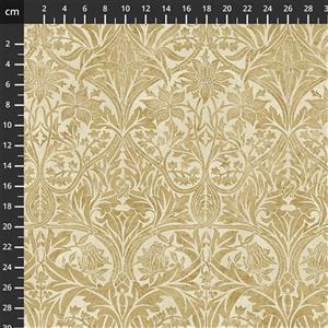 William Morris Granada in Bluebell Gold Fabric 0.5m