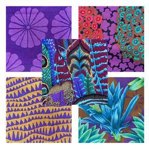 Kaffe Fassett 2021 Collective Fruity Purples Fabric Bundle (2.5m)