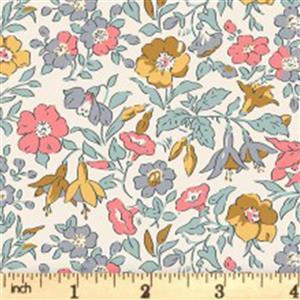 Liberty English Garden Collection Pastel Mamie Fabric 0.5m