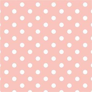 Riley Blake Notting Hill Polka Dot Pink Fabric 0.5m