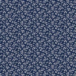 Riley Blake Delightful Rose Stem Navy Fabric 0.5m