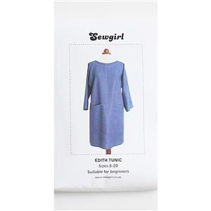 Edith Tunic Dress Sewgirl Pattern: Sizes 8-20
