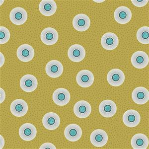 Lewis & Irene in Double Dots Mustard Fabric 0.5m