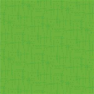 Stitched Effect Green Fabric 0.5m