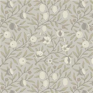 William Morris Mineral Grey Budding Fabric 0.5m
