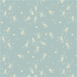 Riley Blake Tiny Treaters Grey Skeleton Fabric 0.5m