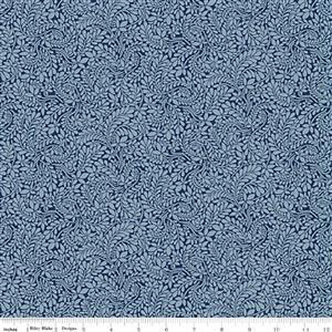 Liberty Summer House Collection in Blue Cambridge Fern Fabric 0.5m