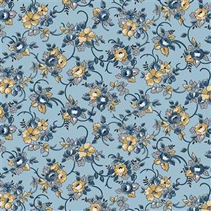 Riley Blake Delightful Floral Blue Fabric 0.5m