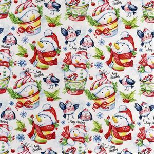 Jolly Snowmen Fabric 0.5m