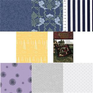 Navy & Yellow Take 5 Quilt Kit: Instructions & Fabric (5m)
