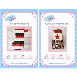 Living in Lovliness Christmas Stocking and Sack Pattern Bundle. Special Price