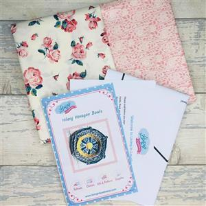 Living in Loveliness Hilary Hexagon Stacking Trays Kit Pink; includes 2 x 0.5m Liberty Fabrics