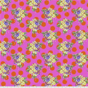 Tula Pink Curiouser And Curiouser in Painted Roses Daydream Fabric 0.5m