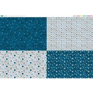 Starry Night Fabric Panel 4 x FQ (140cm x 106cm)