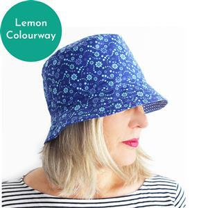 Sewgirl Brighton Bucket Hat Kit, Lemon: Instructions & Fabric (1m)