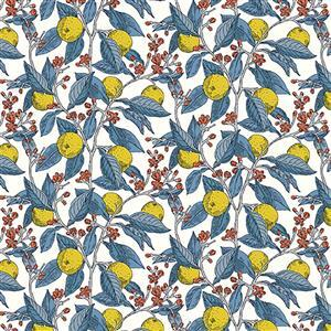 Liberty Summer House Collection in Lemon Conservatory Fruits Fabric 0.5m
