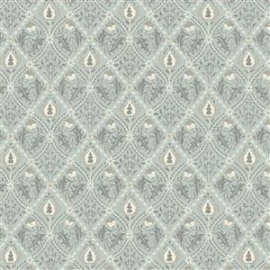 William Morris Mineral Blue Diamond Floral Fabric 0.5m