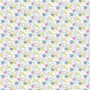 Liberty Deco Dance Collection in Ribbon Bloom Fabric 0.5m