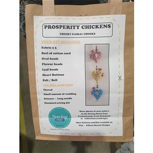 Allison Maryon's Cheery Floral Chooks Prosperity Chickens Kit