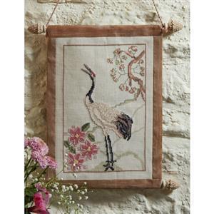 Oriental Stork On Linen