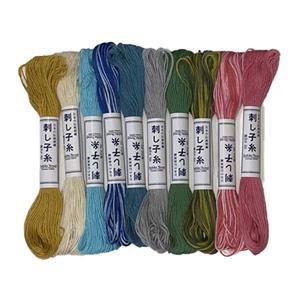 Olympus Sashiko Pastel Thread Pack of 10 x20m Skein