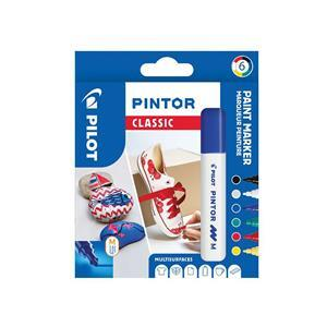 Medium point Classic Colours Fabric Pens Pack of 6