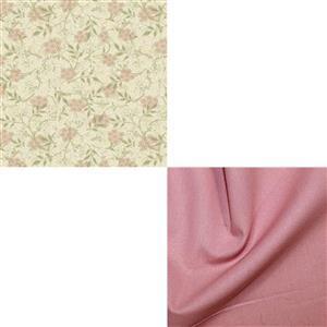 William Morris Granada in Jasmine with Blush Fabric Bundle (1m)