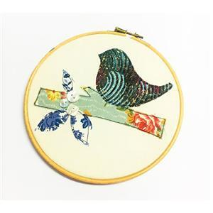 Katharine Wrights Applique Bird Picture Kit - Green & Purple