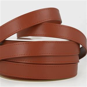 Faux Leather Webbing Chocolate 25mm (1m)