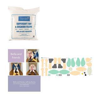 Delphine Brook's Betty Bunny Softie Kit, Instructions, Panel, Filling