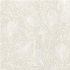 Ivory Feather  100% Cotton Fabric 0.5m