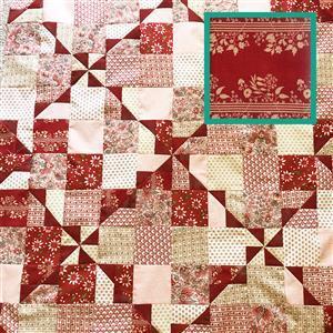 Moda Stripe French General French Wrap Quilt Kit 122cm x 153cm