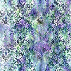 Jason Yenter Floragraphix V  Lavender Medallions Fabric 0.5m