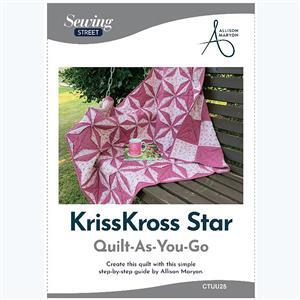 Allison Maryon's Kriss Kross Star Quilt-As-You-Go Instructions