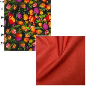 Tulips Canvas Big Bag Fabric Bundle (2m)