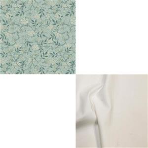 William Morris Granada in Jasmine with Ivory Fabric Bundle (1m)