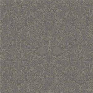 William Morris Mineral Brown Floral Fabric 0.5m